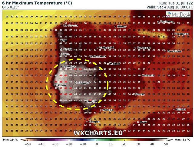 Prawdziwe afrykańskie upały czekają Hiszpanię i Portugalię
