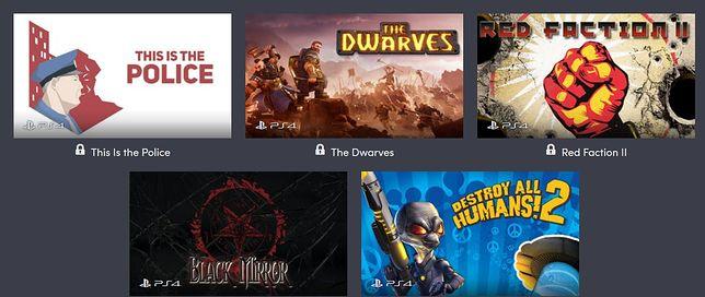 Część gier dostępna w ramach Humble Bundle