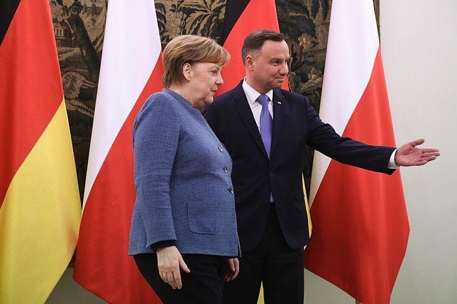 Andrzej Duda nie spotka się z kanclerz Niemiec Angelą Merkel podczas jej sobotniej wizyty w Polsce