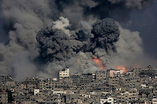 Gaza po izraelskim nalocie