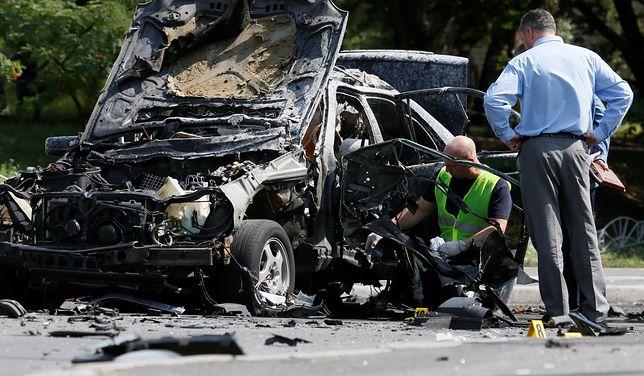 Scena zbrodni zamachu w Kijowie