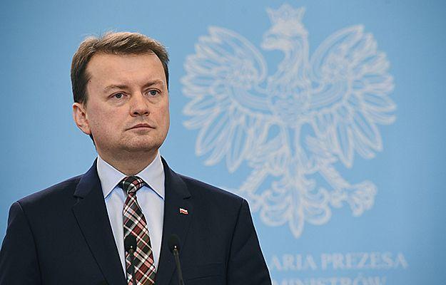 """Mariusz Błaszczak ma dodatkowe zadania dla oficerów nowej formacji. """"To robienie z nich portierów"""""""