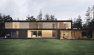 Dom Leśny wśród sosen