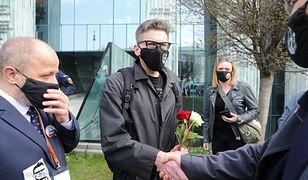 Sędzia Igor Tuleya przed siedzibą Sądu Najwyższego w Warszawie