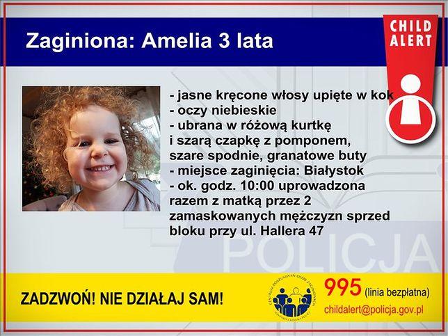 System Child Alert pomaga w poszukiwaniach porwanej Amelii.