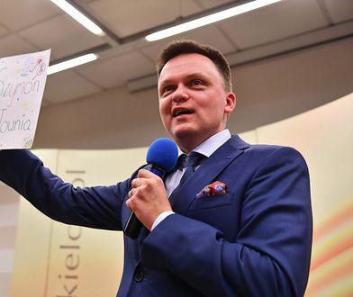 Szymon Hołownia straszy, że w Polsce zabraknie wody pitnej.