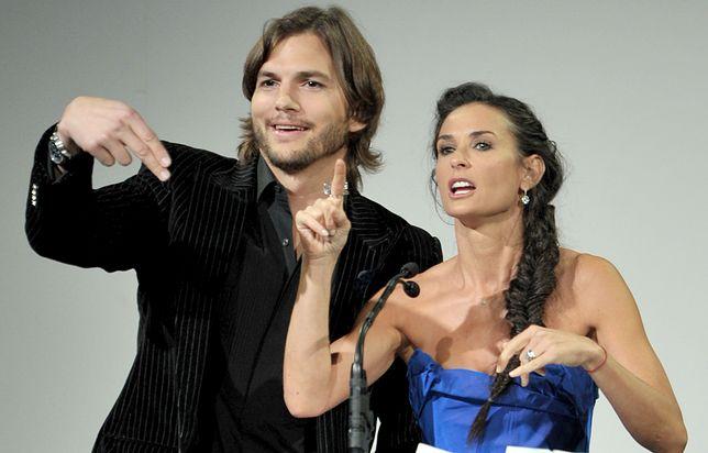 Demi Moore i Ashton Kutcher, 2011 r.