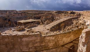Herodium Archaeological site Herodes palace in the Judaean Mountain Country Travel Israel