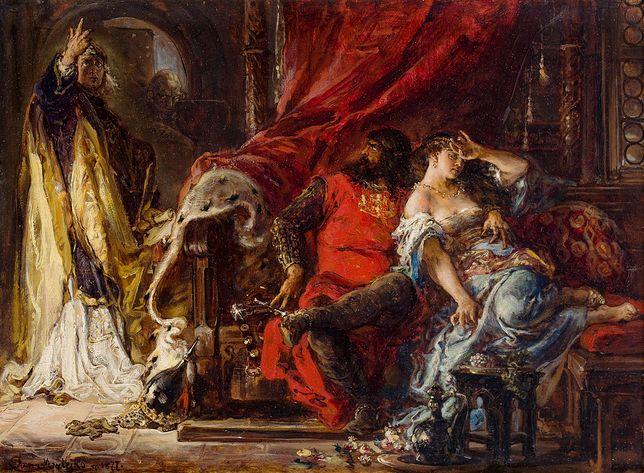 """Jan Matejko, """"Św. Stanisław karcący Bolesława Śmiałego"""" (1877)"""