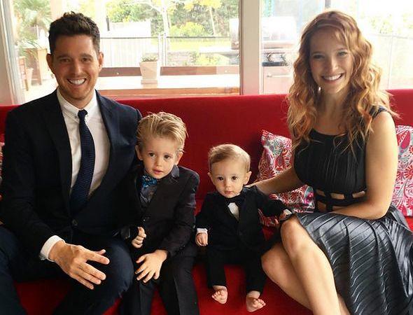 Michael Buble z żoną i dziećmi