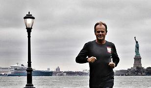 Donald Tusk biega po Nowym Jorku.