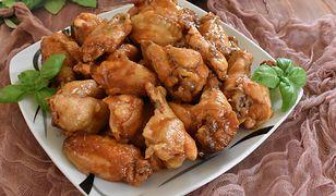 Skrzydełka z kurczaka w sosie słodko-kwaśnym