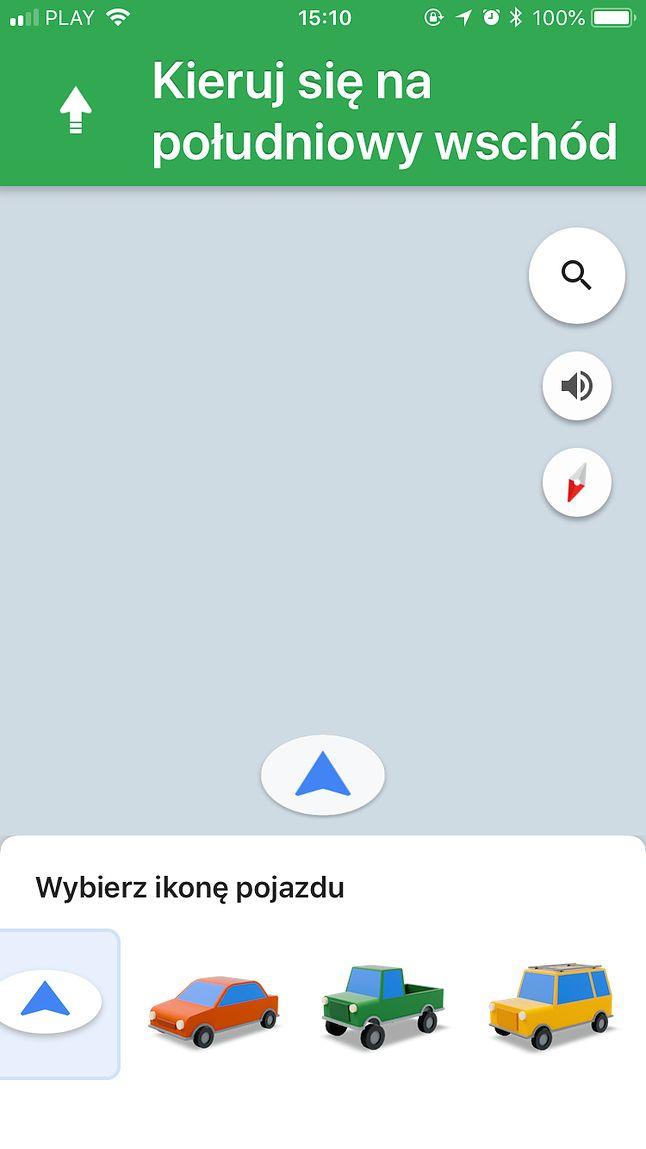 Mapy Google w wersji na iOS-a.