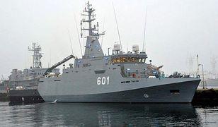 Najnowszy polski okręt wojenny w porcie w Gdyni