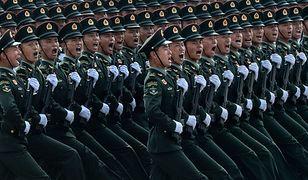 Chiny. Defilada z okazji 70-lecia proklamowania komunistycznej Chińskiej Republiki Ludowej.