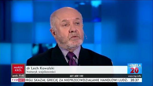Dr Lech Kowalski w TVP INFO