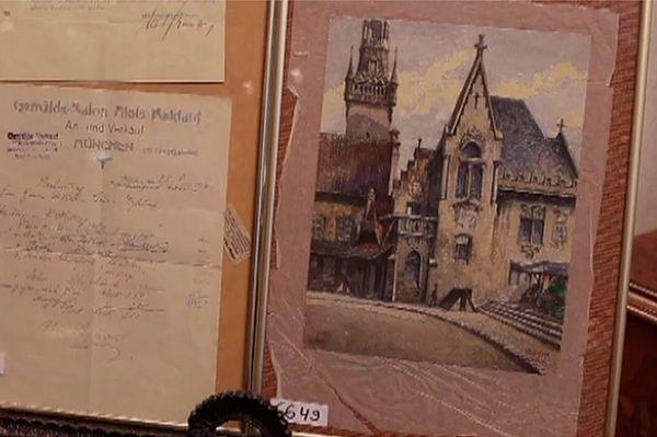 """Obraz Hitlera """"Stary Ratusz"""" wystawiony na aukcji w Norymberdze"""