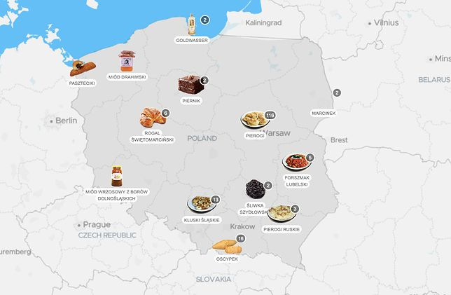 Jednymi z najpopularniejszych polskich przysmaków są oscypki i pierniki toruńskie.