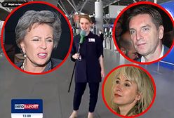 TVP Info kpi z Manueli Gretkowskiej, Tomasza Lisa i Krystyny Jandy. Dziennikarka szukała ich na lotnisku