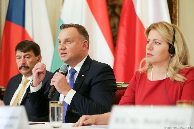 Andrzej Duda, Janos Ader i Zuzana Caputova na szczycie Grupy Wyszehradzkiej