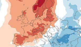 25 lutego temperatury nad Polską będą wyższe niż zwykle
