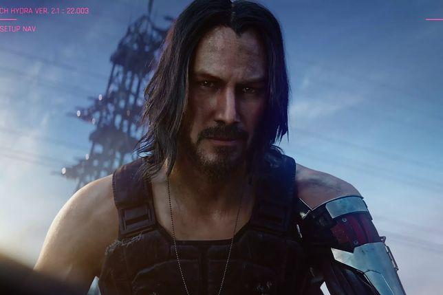 """Keanu Reeves jako Johnny Silverhand w """"Cyberpunk 2077"""""""