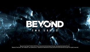 Beyond: Two Souls - screen z ekranem tytułowym i logo gry Quantic Dream
