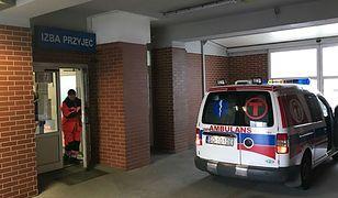 Izba przyjęć szpitala miejskiego w Sosnowcu. Tutaj zmarł pacjent oczekujący na pomoc
