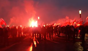 Spalili flagę Ukrainy podczas Marszu Niepodległości. Śledztwo prokuratury