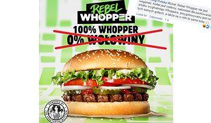 """Zdaniem Burger Kinga można usmażyć coś w wołowym tłuszczu i napisać na reklamie """"0% wołowiny""""."""