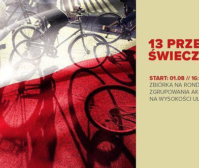 Warszawa. Upamiętniający Powstanie Warszawskie przejazd rowerowy na Woli (fot. Wolskie Centrum Kultury - Facebook)