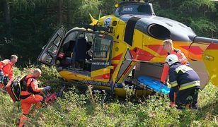 Śmigłowiec LPR przetransportował rannego chłopca do szpitala