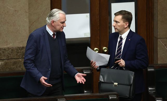 Jarosław Gowin i Łukasz Schreiber w Sejmie