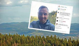 Andrzej Duda w górach
