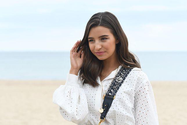 Julia Wieniawa na plaży