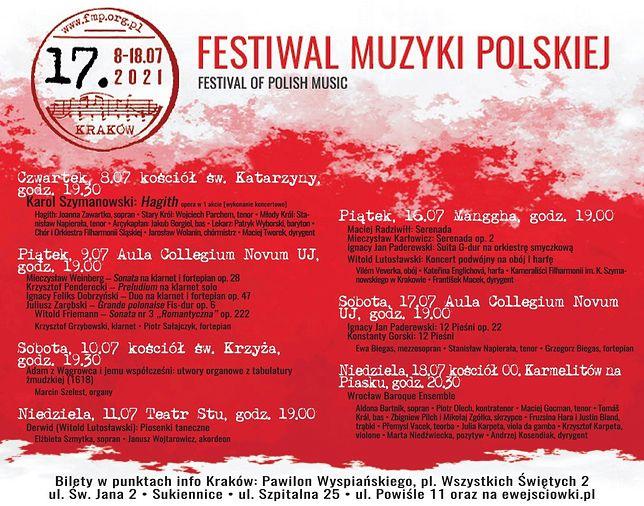 17. Festiwal Muzyki Polskiej, 8-18 lipca, Kraków