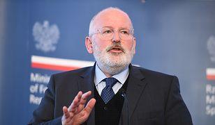 Podczas wizyty w Polsce Timmermans spotkał się też m.in. z premierem Morawieckim