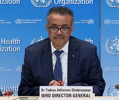 """Dr Tedros Adhanom Ghebreyesus: """"wirus nie jest pod kontrolą - jest coraz gorzej"""""""