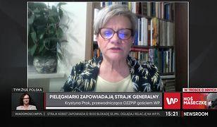 Koronawirus w Polsce. Pielęgniarki grożą strajkiem. Krystyna Ptak odpowiada Marcinowi Horale