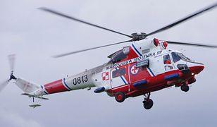 Akcja ratownicza na Bałtyku. Śmigłowiec marynarki uratował mężczyznę na platformie wiertniczej