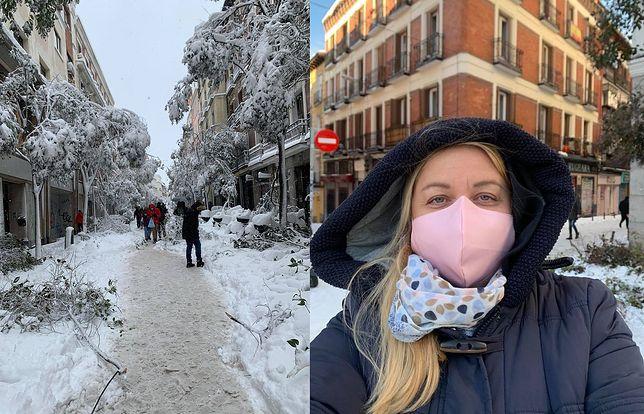 Atak zimy w Hiszpanii. Miasta zasypał śnieg. Na zdjęciu Agnieszka Wąsowicz, mieszkanka Madrytu