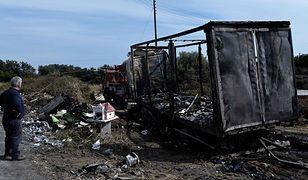 Miejsce wypadku w Grecji, w którym spłonęło 11 osób