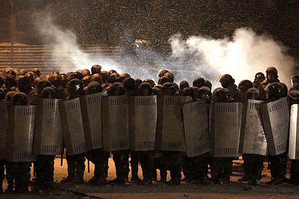 Milicja na ulicach Kijowa