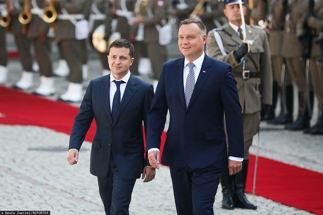 Prezydent Ukrainy Wołodymyr Zełenski oraz prezydent Andrzej Duda w Warszawie (zdj. arch.)