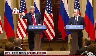 Donald Trump rzuca piłką w żonę
