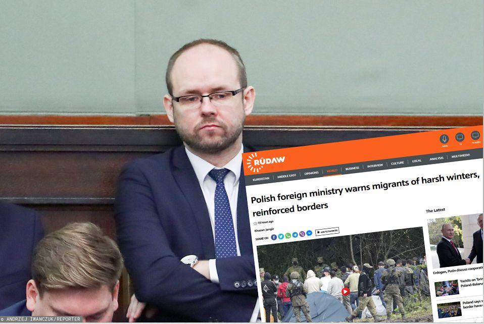Polski wiceminister w irackich mediach. Ostrzegł potencjalnych migrantów (East News)