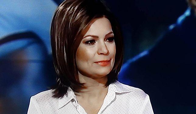 """Joanna Górska, stopklatka z wtorkowego wydania programu """"Nowy dzień z Polsat News"""""""