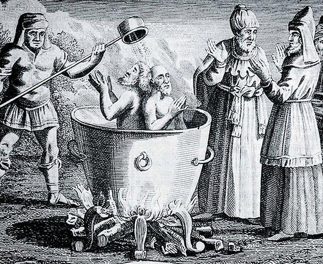 Ugotowanie w kotle z wodą lub olejem