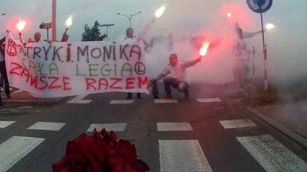 """Szamotanina kibiców Legii z fanami Wisły Płock. """"Prezent ślubny i tak wypalił"""""""