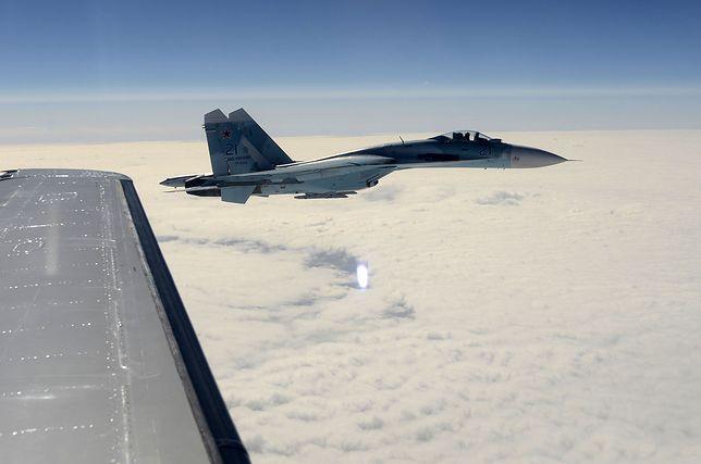 Myśliwiec Su-27 naruszył zasady bezpieczeństwa